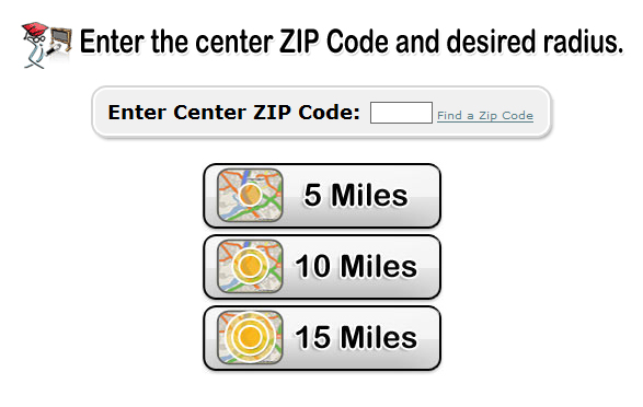 Choose your Zip Code